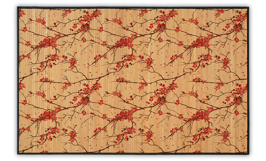 Cherry Blossom - Bamboo Mat - Romantic botanical pattern
