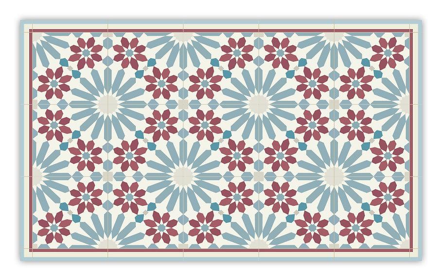 פיויסי עבה במיוחד מרקש כחול בורדו- במגוון מידות החל מ