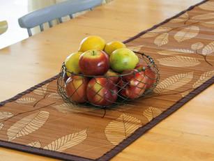 ראנרים מבמבוק לעיצוב השולחן