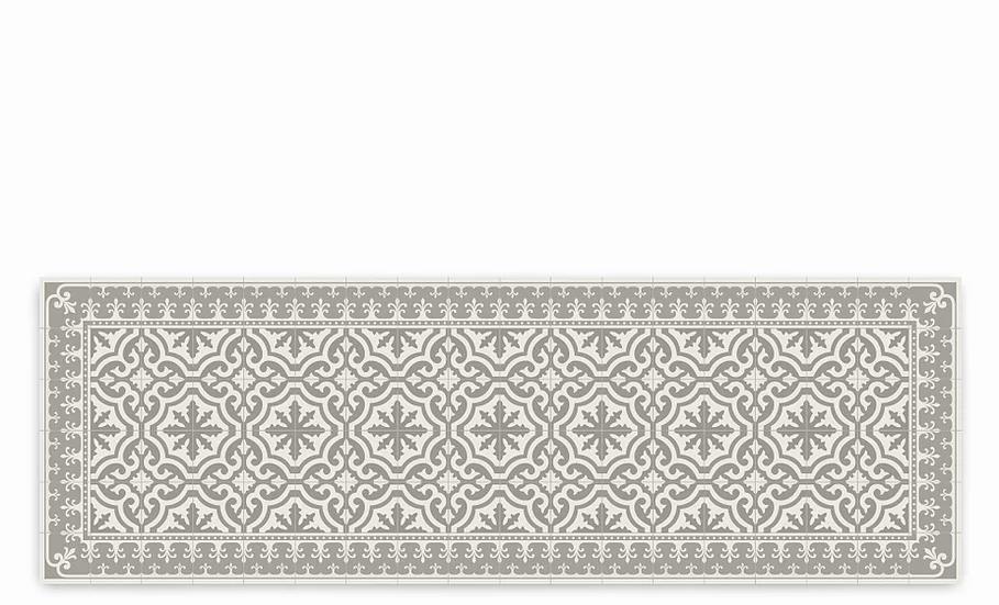 Tuscany - Vinyl Table Runner - Beige  classic tiles pattern