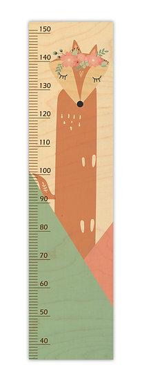 """מד גובה מעץ שועלה -  120/30 ס""""מ"""