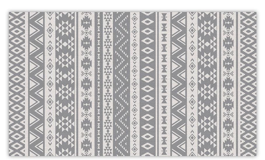 Alexander - Vinyl Floor Mat - Gray classic ethnic pattern