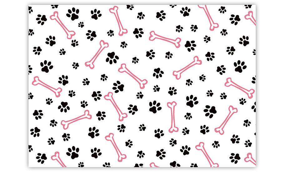 שטיח לחיות מחמד עצם כלב ורוד - במגוון מידות