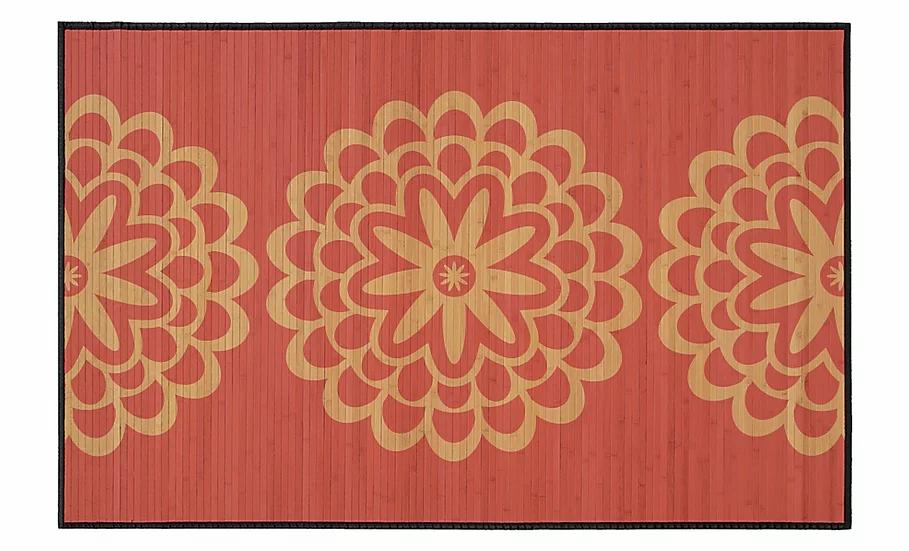 Pimpernels - Bamboo Mat - Pink botanical pattern