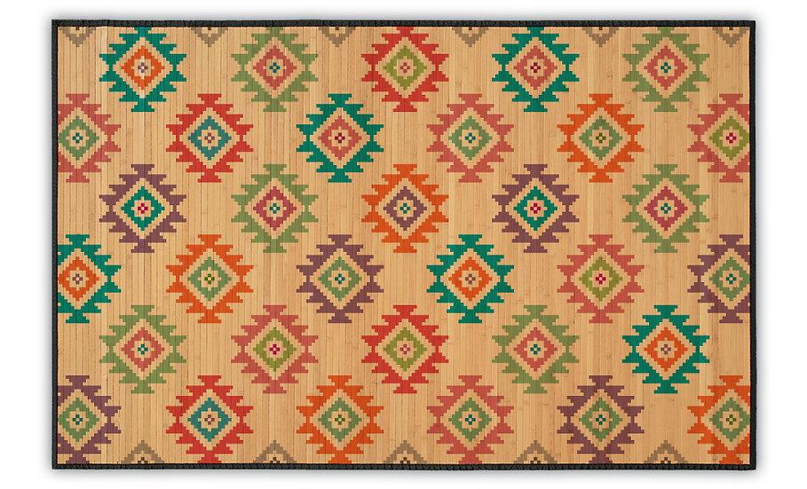 Diamonds - Bamboo Mat - Colorful ethnic pattern