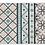 Thumbnail: Almond - Vinyl Floor Mat - Light blue geometric pattern
