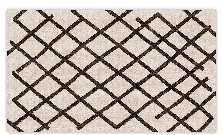 Atlas - Vinyl Floor Mat - Black graphic pattern