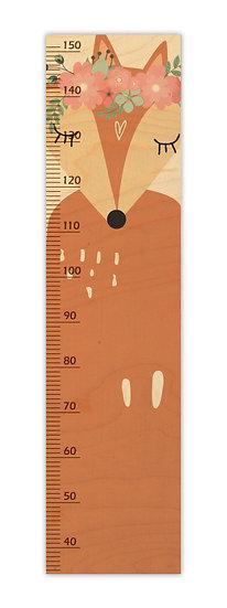 """מד גובה מעץ שועלה גדולה -  120/30 ס""""מ"""