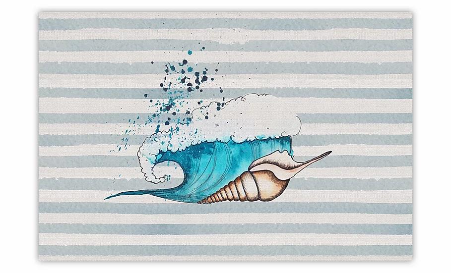 Seashell - Vinyl Floor Mat - Marine theme