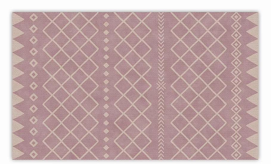 Willow - Vinyl Floor Mat - Pink graphic pattern