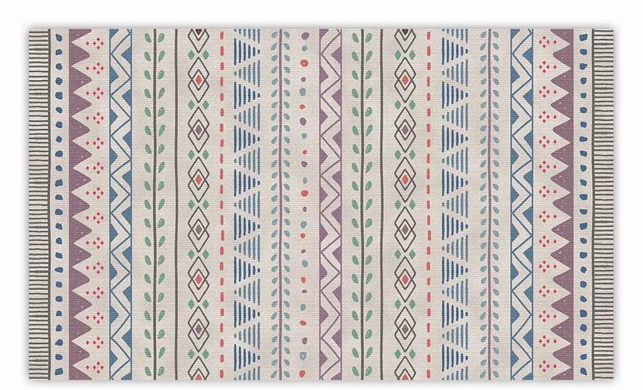 Jordan - Vinyl Floor Mat - Purple ethnic pattern