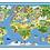 Thumbnail: The Globe  - Vinyl Floor Mat - Colorful playful theme