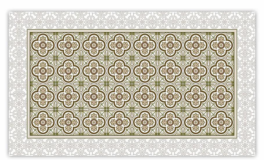 Henry - Vinyl Floor Mat - Sepia classic tiles pattern