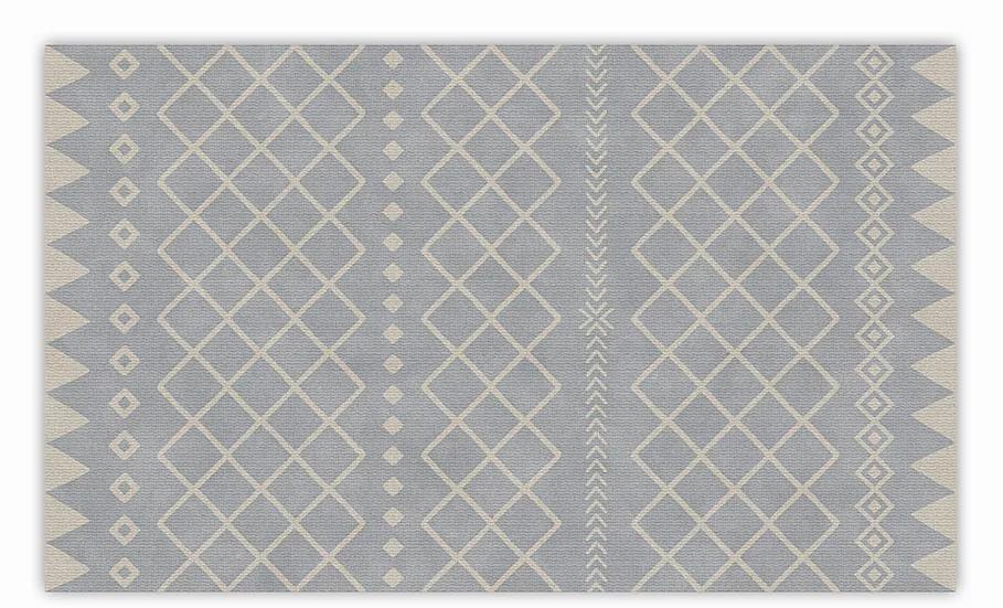 Willow - Vinyl Floor Mat - Gray graphic pattern
