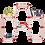 Thumbnail: מחברים - 8 יח (2 סטים) בזוית 150° במגוון צבעים