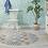 Thumbnail: Round Portugal - Vinyl Floor Mat - Blue and orange mix tiles pattern