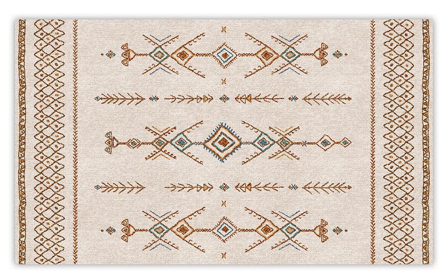 Tenerife - Vinyl Floor Mat - Colorful beige ethnic pattern