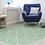 Thumbnail: Zigzag - Vinyl Floor Mat - Green graphic pattern