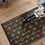 Thumbnail: Shiraz - Vinyl Floor Mat - Brown ethnic pattern