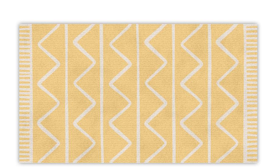 שטיח פעילות זיגזג צהוב לילדים - במגוון מידות