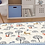 Thumbnail: In the Forest - Vinyl Floor Mat - Blue animals theme pattern