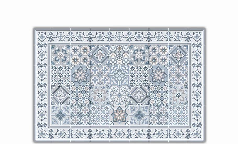 Retro - Vinyl Table Placemat - Gray mixed tiles pattern