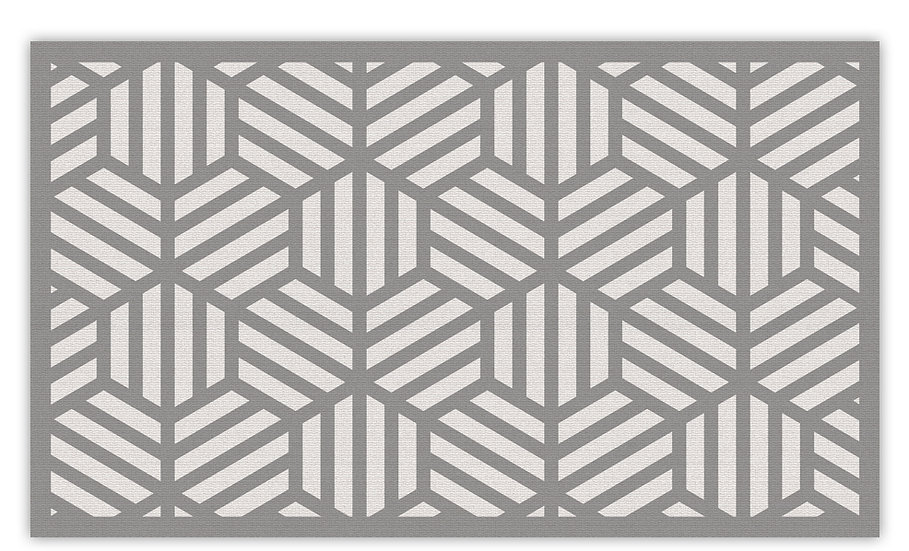 Soho - Vinyl Floor Mat - Gray graphic pattern