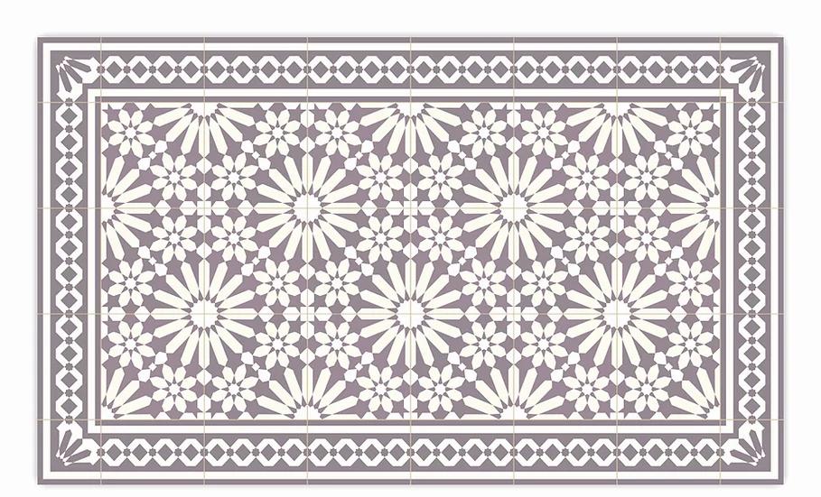 Tangier - Vinyl Floor Mat - Purple Moroccantiles pattern