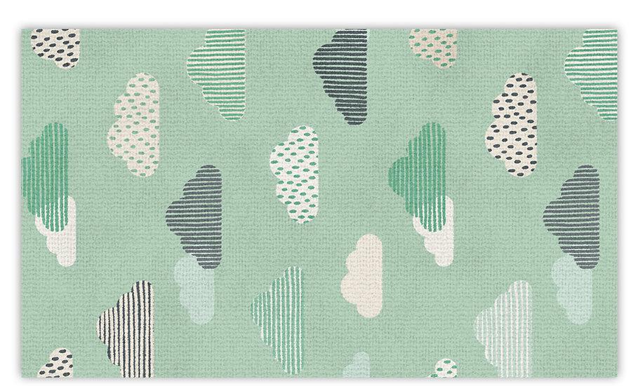 שטיח פעילות עננים ירוקים לילדים - במגוון מידות