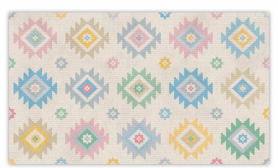 Yuval - Vinyl Floor Mat - Colorful graphic pattern