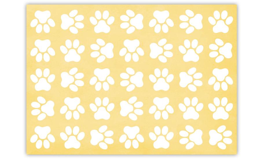 שטיח לחיות מחמד כפות רגליים צהוב - במגוון מידות