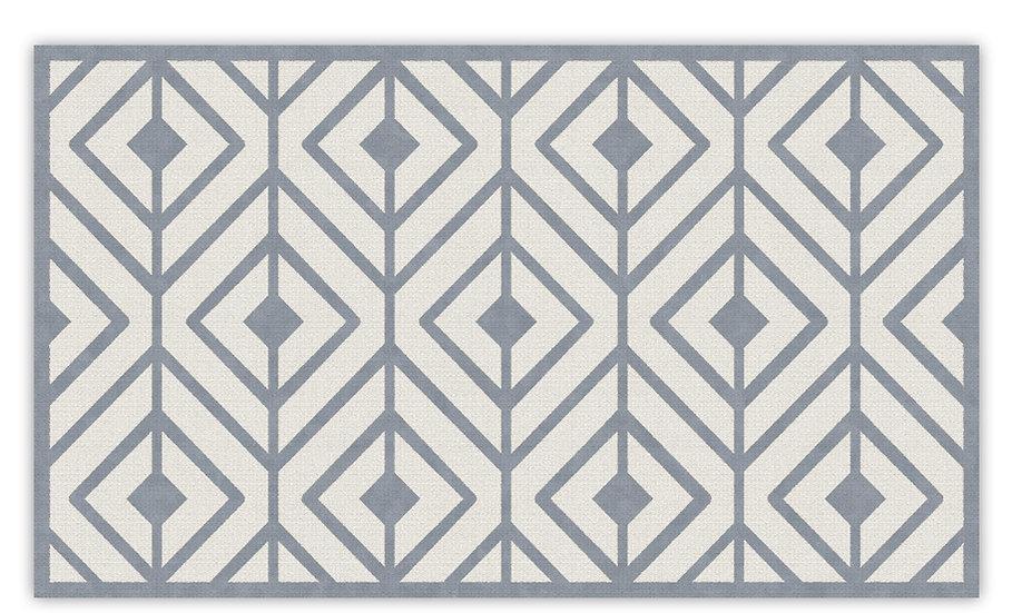 Kaya - Vinyl Floor Mat - Gray graphic pattern
