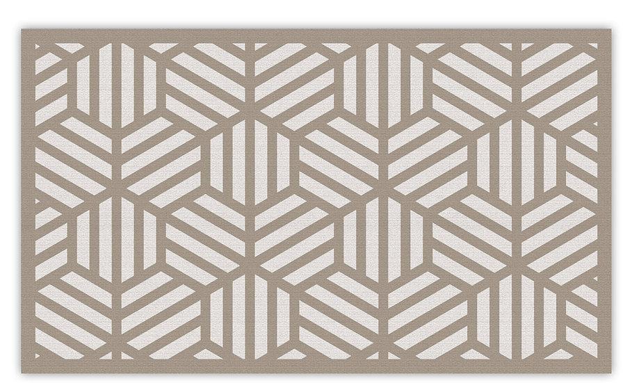 Soho - Vinyl Floor Mat - Beige graphic pattern