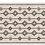 Thumbnail: Shiraz - Vinyl Floor Mat - Beige and black ethnic pattern