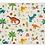 Thumbnail: Dinosaurs  - Vinyl Floor Mat - Colorful animals theme pattern