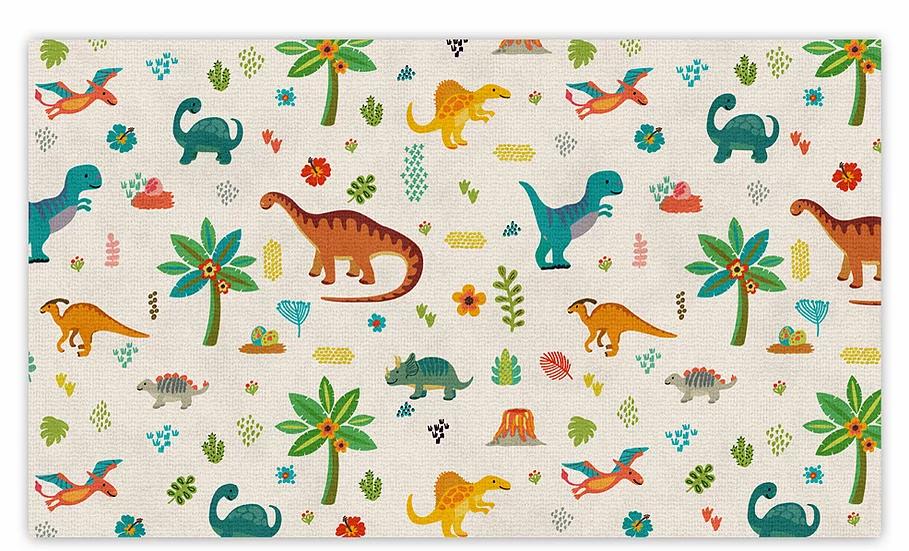 Dinosaurs  - Vinyl Floor Mat - Colorful animals theme pattern