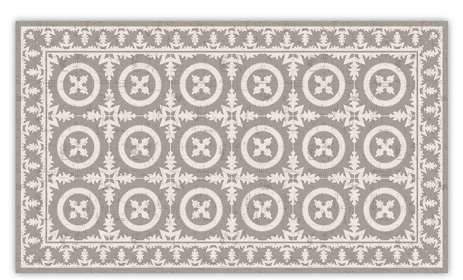 Verona - Vinyl Floor Mat - Beige Italian tiles pattern