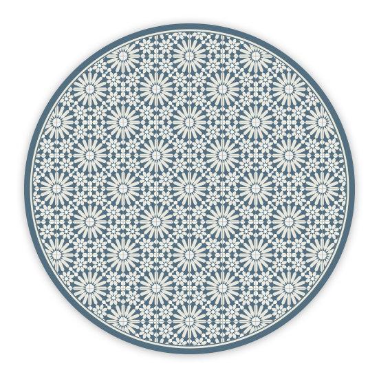 פיויסי עגול טנג'יר כחול - במגוון מידות