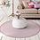 Thumbnail: Round Margo - Vinyl Floor Mat - Pink graphic pattern