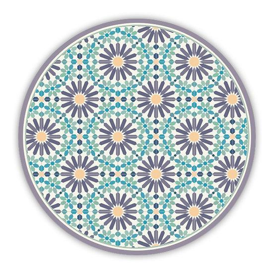 פיויסי עגול מרקש סגול וטורקיז - במגוון מידות