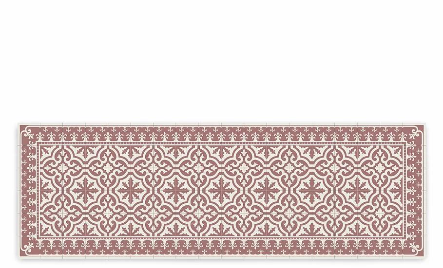 Tuscany - Vinyl Table Runner - Terracotta classic tiles pattern