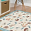 Thumbnail: Squirrels - Vinyl Floor Mat - Light blue animals theme pattern