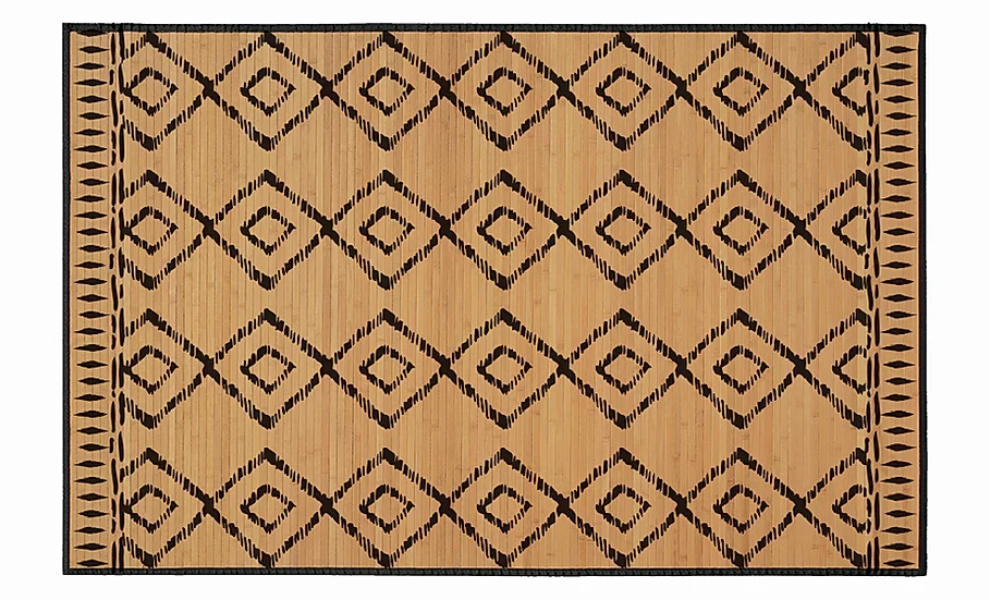 Nutmeg - Bamboo Mat - Natural ethnic pattern