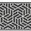 Thumbnail: Chelsea - Vinyl Floor Mat - Dark gray graphic pattern