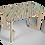"""Thumbnail: שולחן עץ מודפס - דגם קאריה אלכסונים כחול 118/74 ס""""מ"""