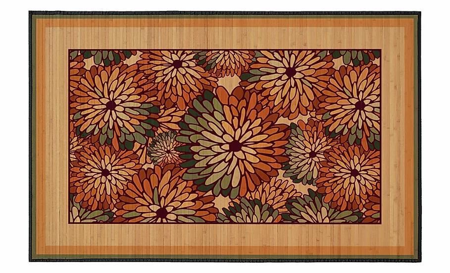 Aster - Bamboo Mat - Romantic botanical pattern