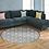 Thumbnail: Round Tangier - Vinyl Floor Mat - Gray Moroccan tiles pattern