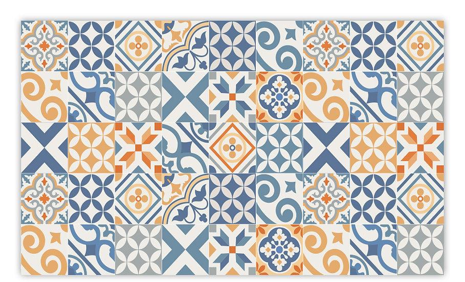 פיויסי פורטוגל כחול וכתום - במגוון מידות