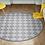 Thumbnail: Round Andrea - Vinyl Floor Mat - Gray Spanish tiles pattern
