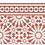 Thumbnail: Tangier - Vinyl Floor Mat - Terracotta Moroccantiles pattern